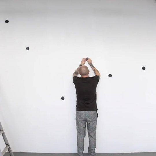 Time-lapse creation of Untitled (18 dots)
