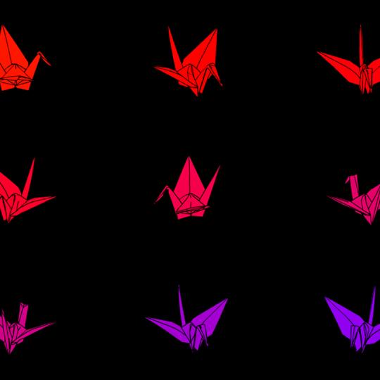 9 Rotating Rainbow Cranes