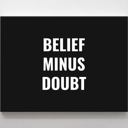 Belief Minus Doubt